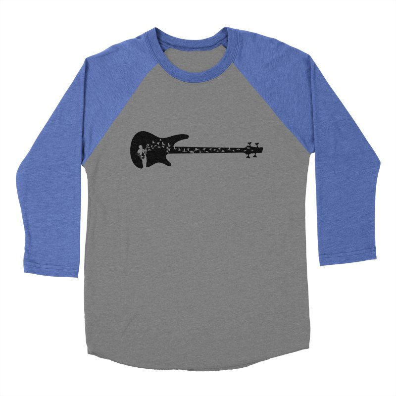 Bass guitar Men's Baseball Triblend Longsleeve T-Shirt by barmalisiRTB