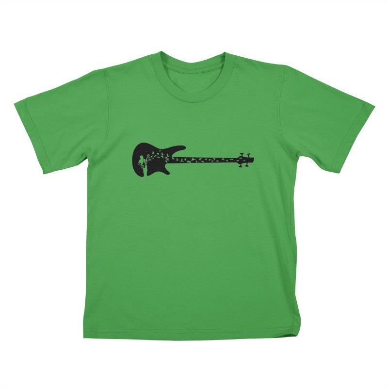 Bass guitar Kids T-Shirt by barmalisiRTB