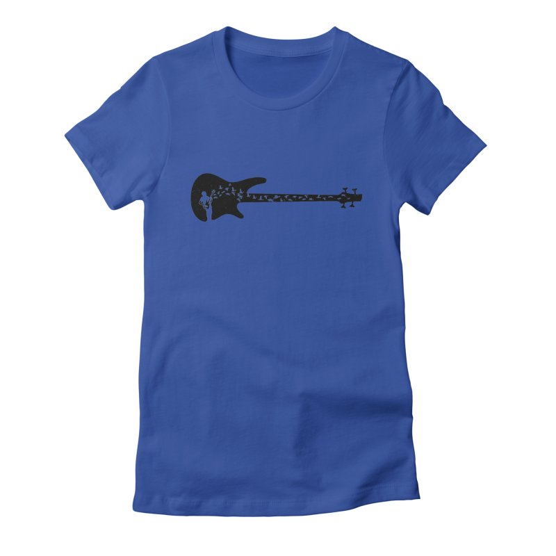 Bass guitar Women's Fitted T-Shirt by barmalisiRTB