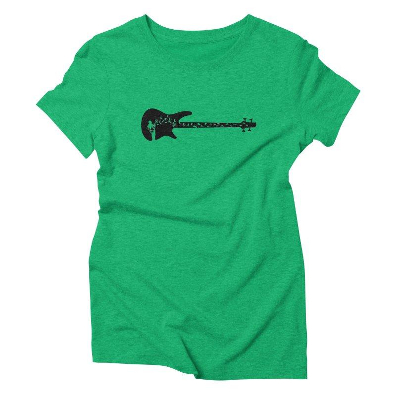 Bass guitar Women's Triblend T-Shirt by barmalisiRTB