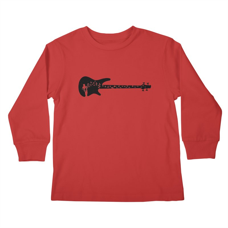 Bass guitar Kids Longsleeve T-Shirt by barmalisiRTB
