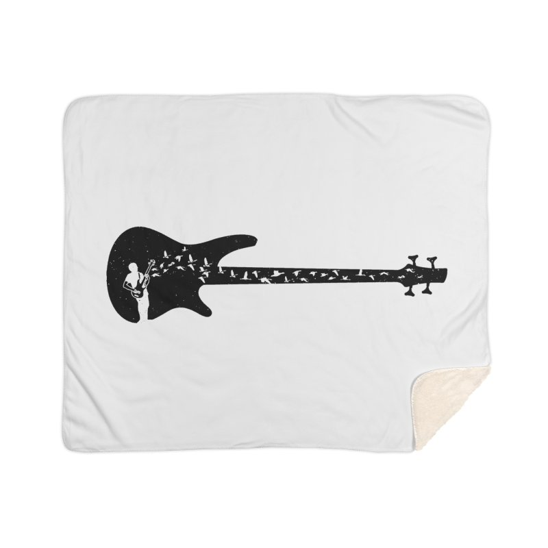 Bass guitar Home Sherpa Blanket Blanket by barmalisiRTB