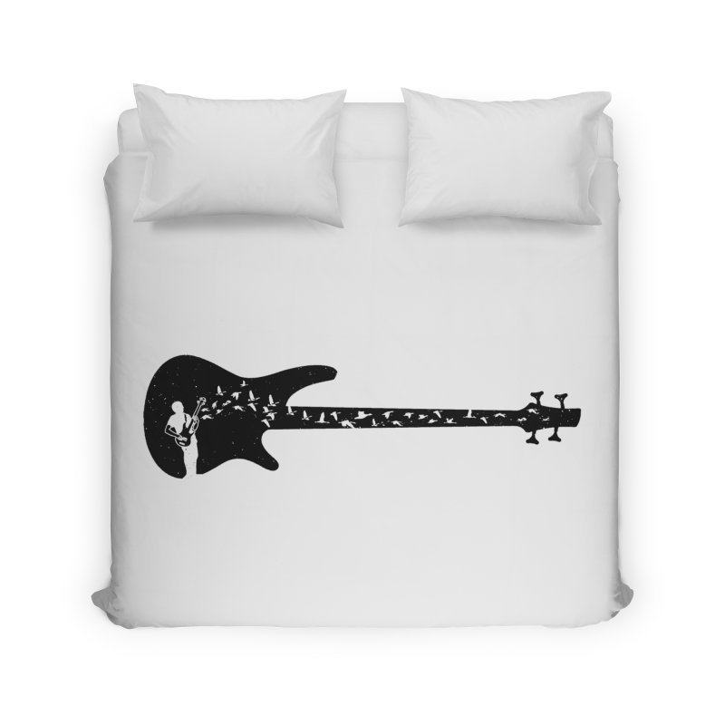 Bass guitar Home Duvet by barmalisiRTB