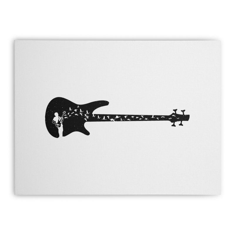Bass guitar Home Stretched Canvas by barmalisiRTB