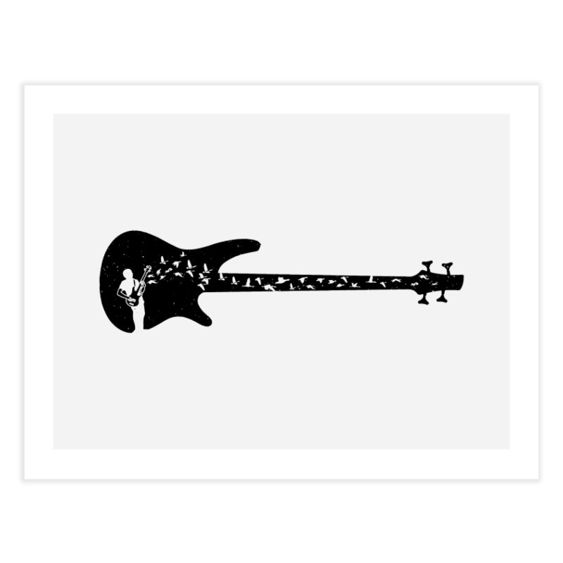 Bass guitar Home Fine Art Print by barmalisiRTB