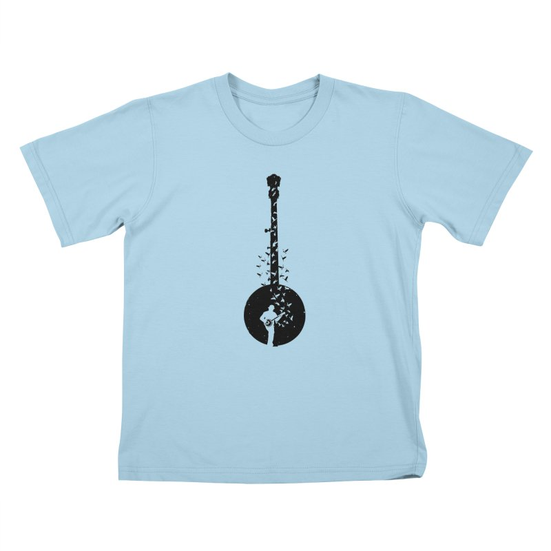 Banjo - Banjo Player Kids T-Shirt by barmalisiRTB