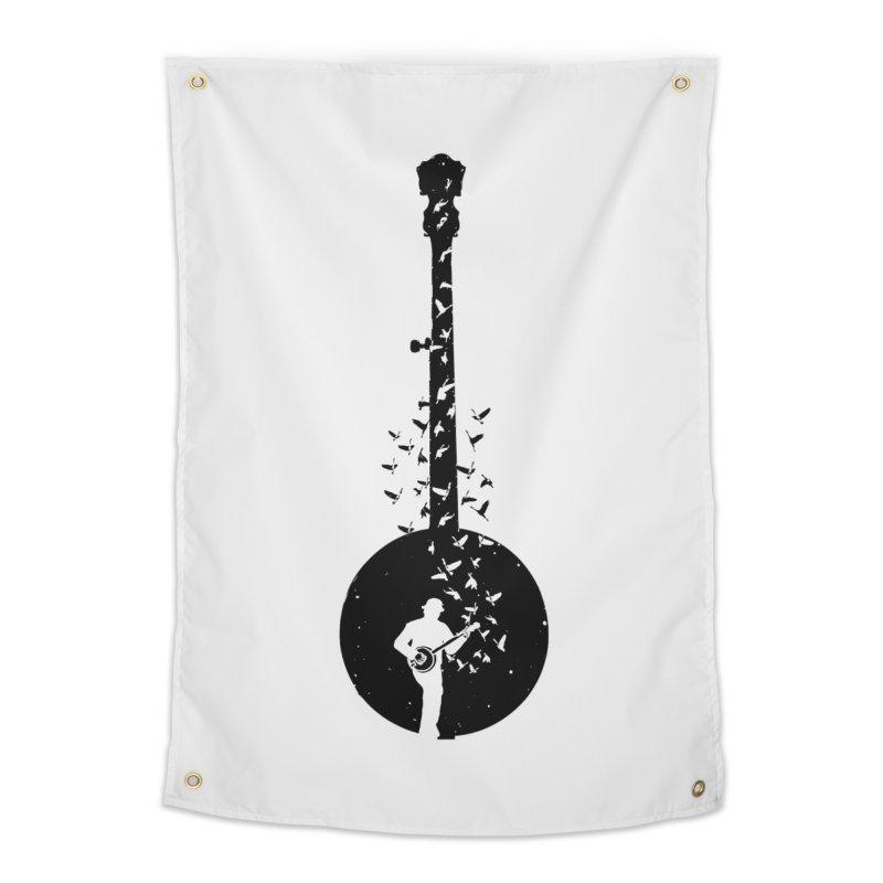 Banjo - Banjo Player Home Tapestry by barmalisiRTB