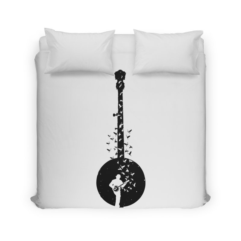 Banjo - Banjo Player Home Duvet by barmalisiRTB
