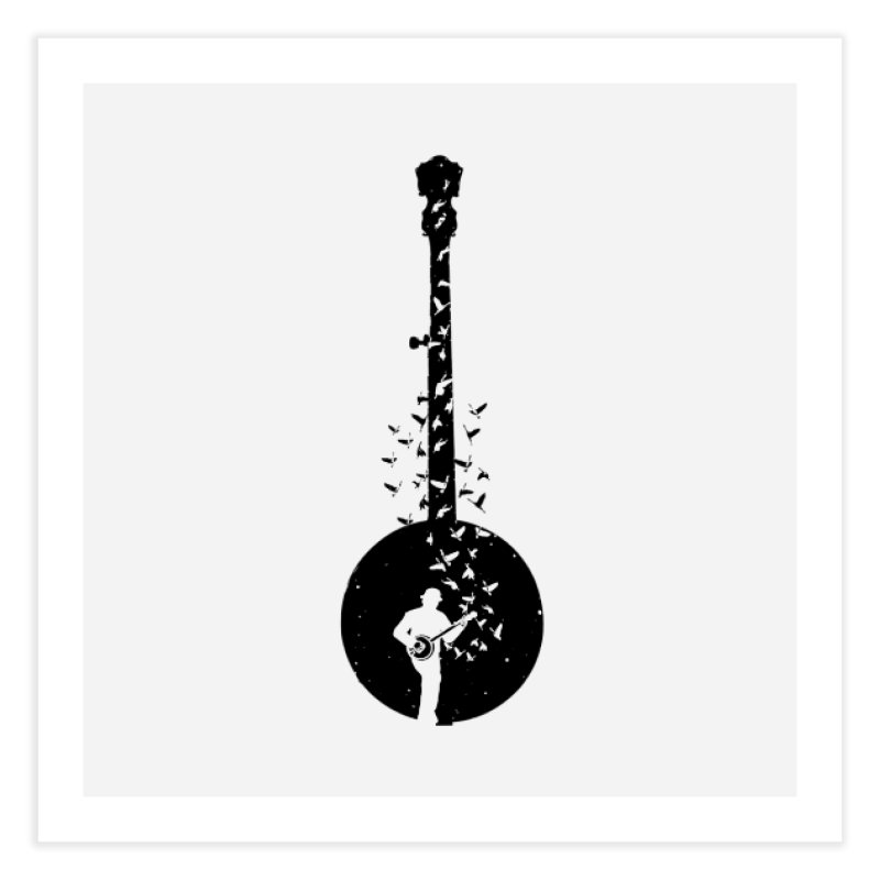 Banjo - Banjo Player Home Fine Art Print by barmalisiRTB
