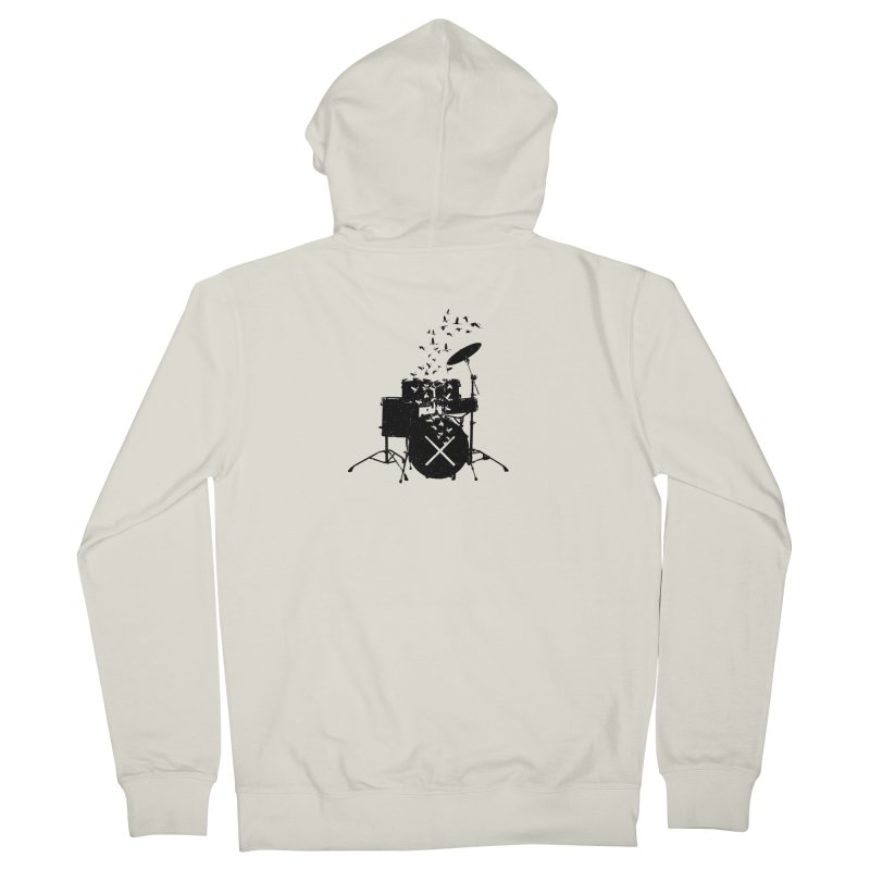 Drum - Drummers Women's French Terry Zip-Up Hoody by barmalisiRTB