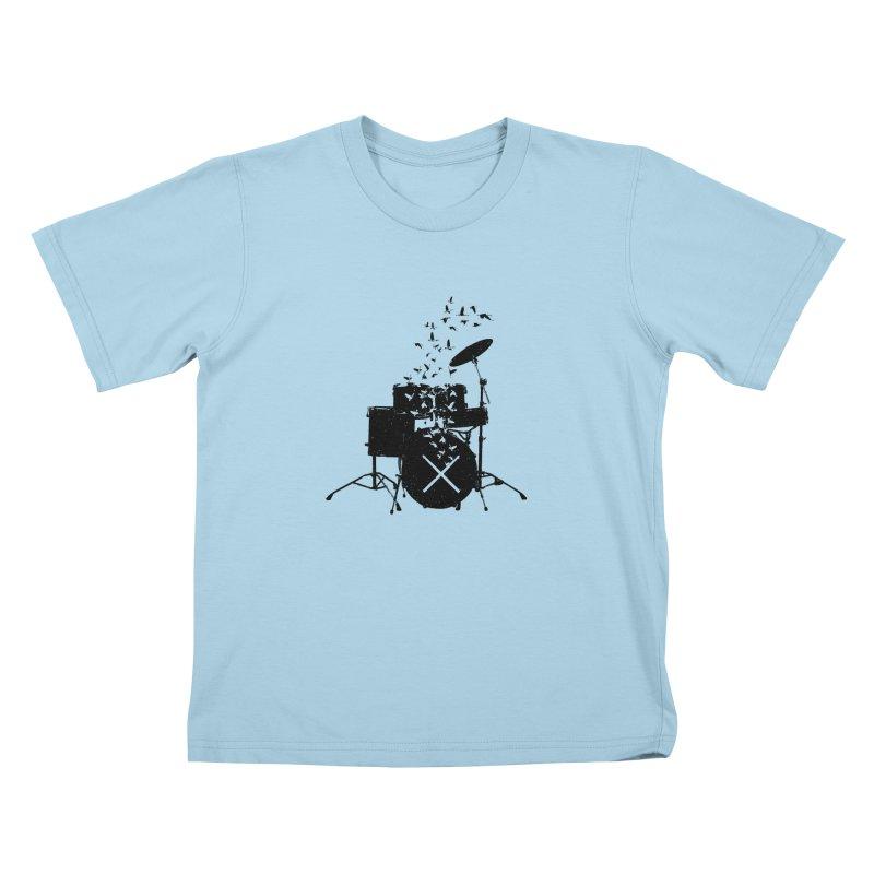 Drum - Drummers Kids T-Shirt by barmalisiRTB