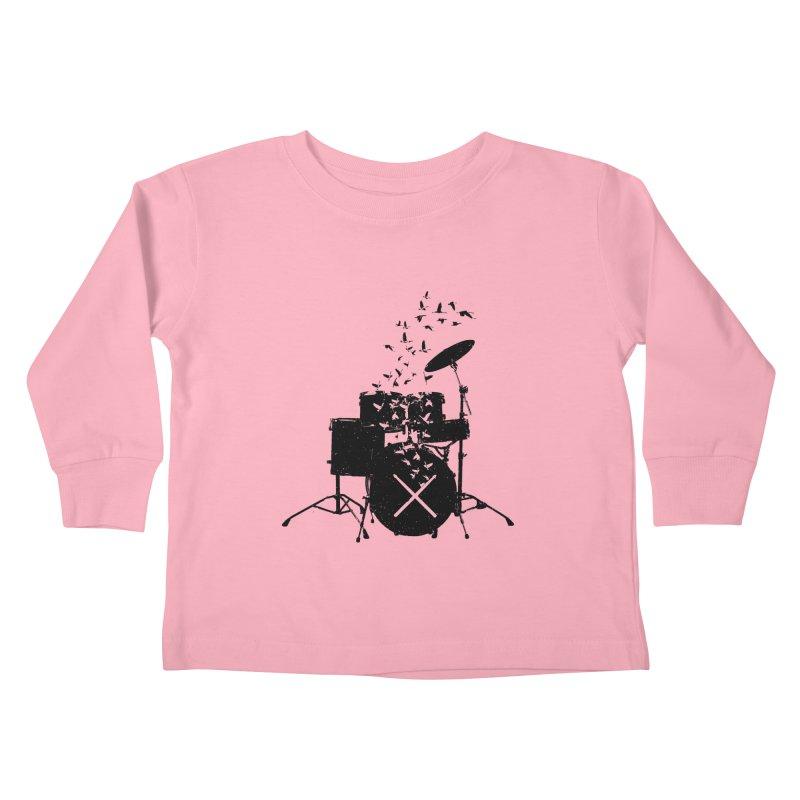 Drum - Drummers Kids Toddler Longsleeve T-Shirt by barmalisiRTB