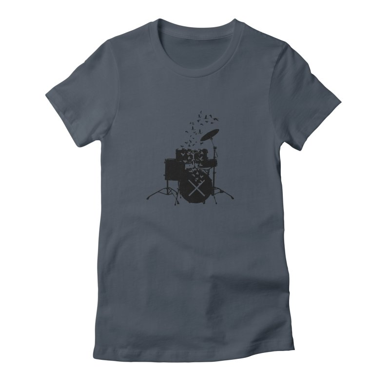 Drum - Drummers Women's Fitted T-Shirt by barmalisiRTB