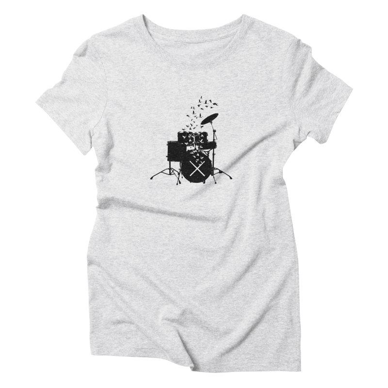 Drum - Drummers Women's Triblend T-Shirt by barmalisiRTB