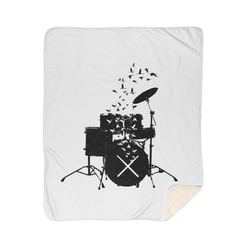 Drum - Drummers Home Sherpa Blanket Blanket by barmalisiRTB