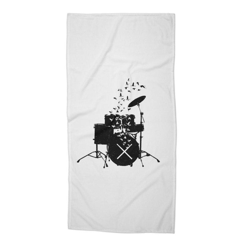 Drum - Drummers Accessories Beach Towel by barmalisiRTB