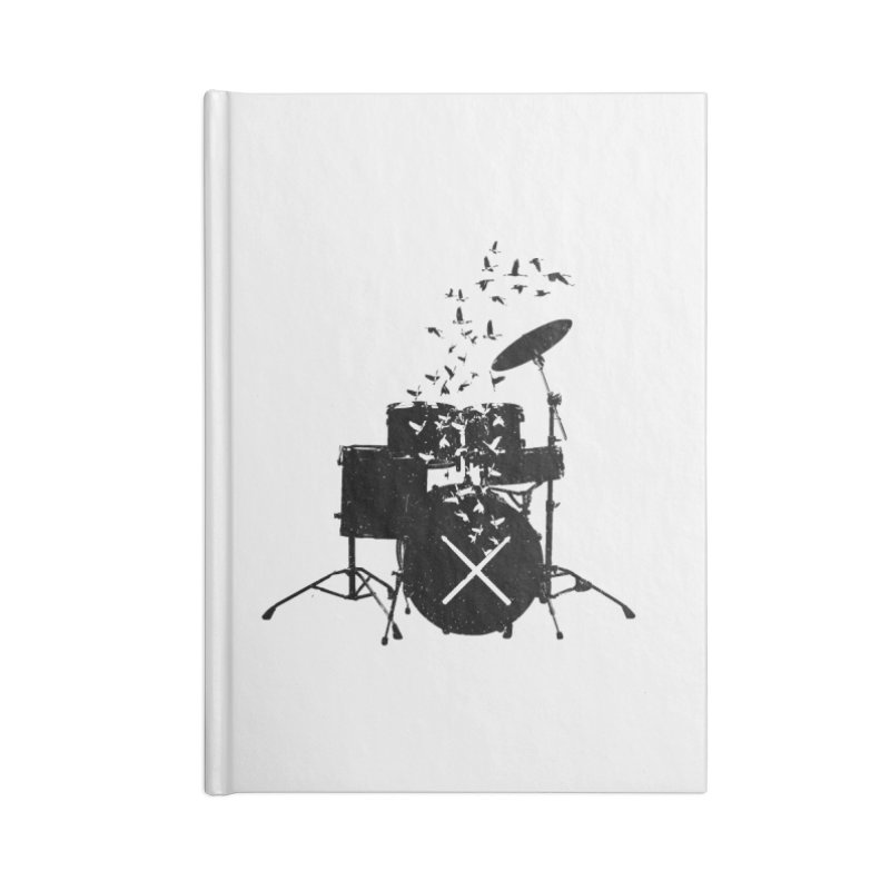 Drum - Drummers Accessories Blank Journal Notebook by barmalisiRTB