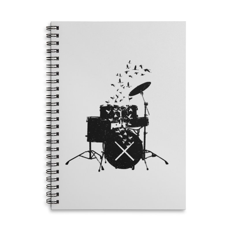 Drum - Drummers Accessories Lined Spiral Notebook by barmalisiRTB