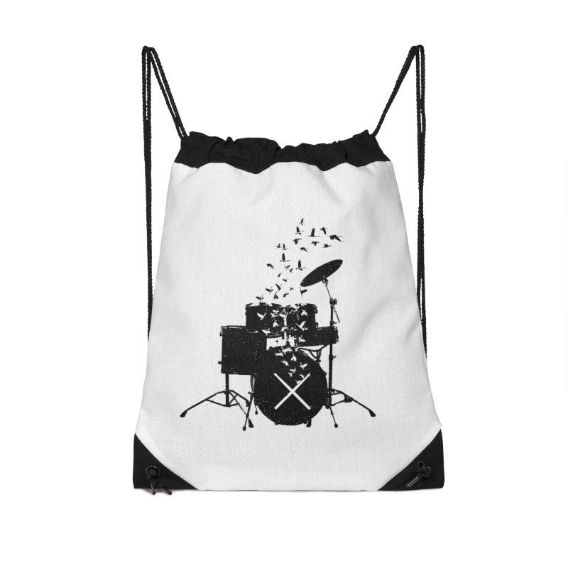 Drum - Drummers Accessories Drawstring Bag Bag by barmalisiRTB
