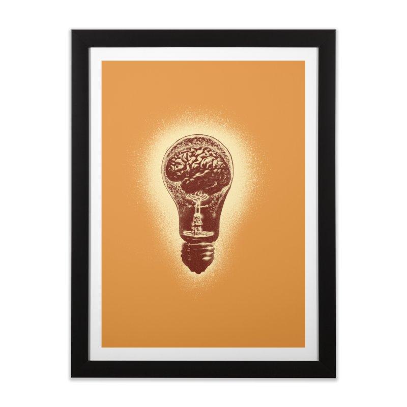 brain stun Home Framed Fine Art Print by barmalisiRTB
