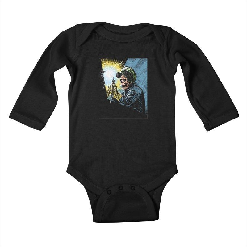 The eternal struggle Kids Baby Longsleeve Bodysuit by barmalisiRTB