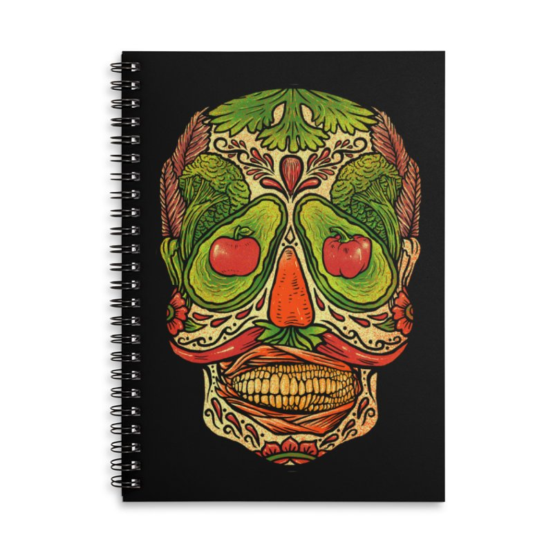 Nutritious delicious Accessories Lined Spiral Notebook by barmalisiRTB