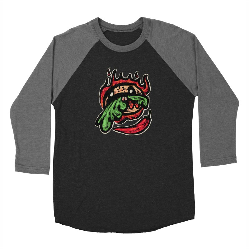 Hot Spicy Burger Men's Baseball Triblend Longsleeve T-Shirt by barmalisiRTB