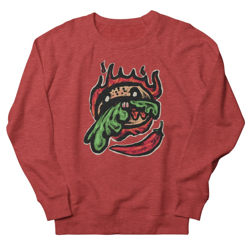 Hot Spicy Burger Men's French Terry Sweatshirt by barmalisiRTB