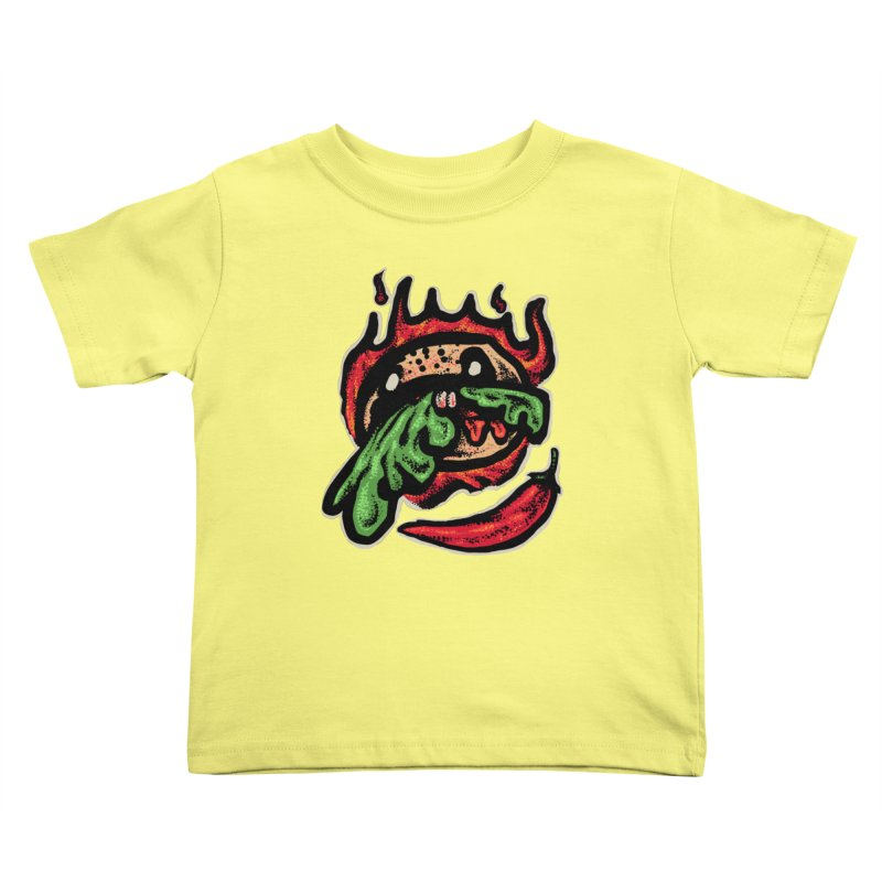 Hot Spicy Burger Kids Toddler T-Shirt by barmalisiRTB