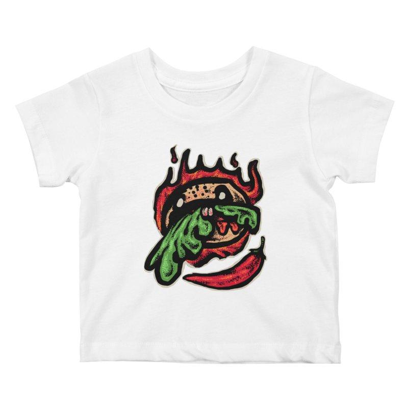 Hot Spicy Burger Kids Baby T-Shirt by barmalisiRTB