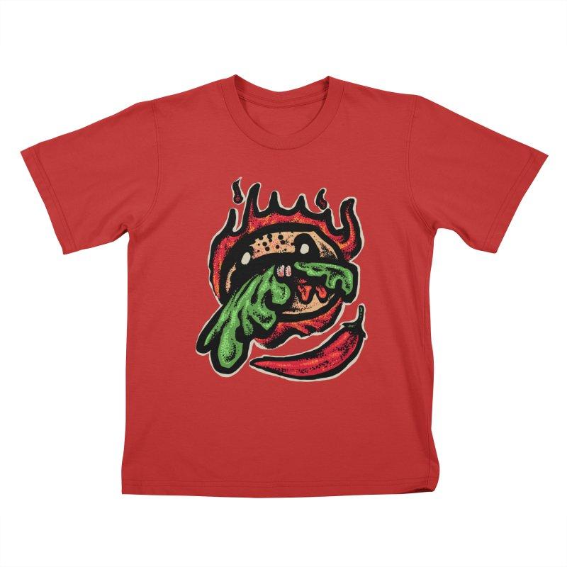 Hot Spicy Burger Kids T-Shirt by barmalisiRTB