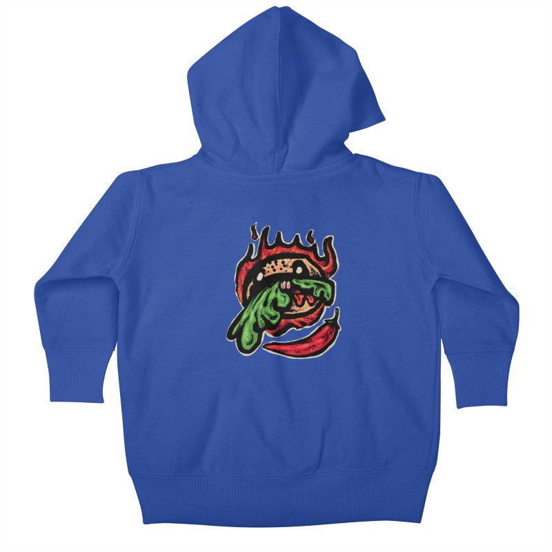 Hot Spicy Burger Kids Baby Zip-Up Hoody by barmalisiRTB