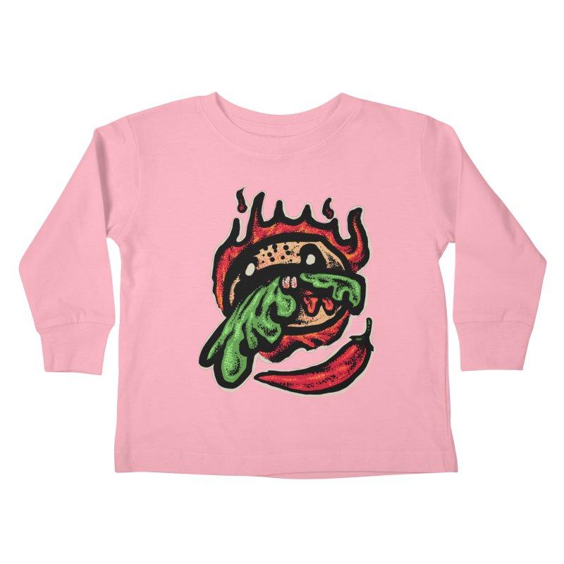 Hot Spicy Burger Kids Toddler Longsleeve T-Shirt by barmalisiRTB