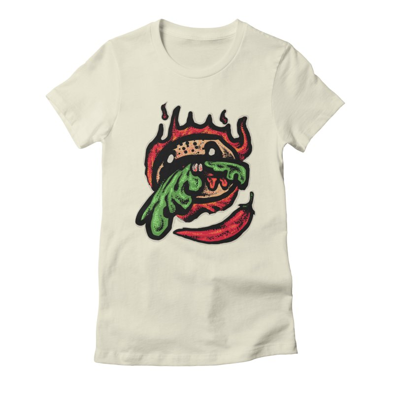 Hot Spicy Burger Women's Fitted T-Shirt by barmalisiRTB