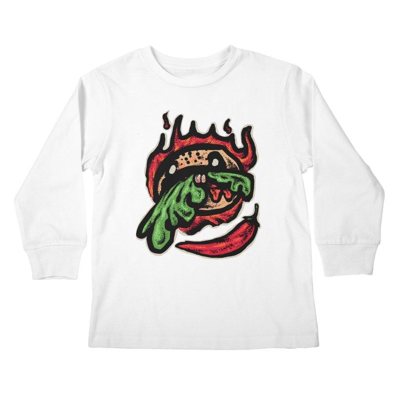 Hot Spicy Burger Kids Longsleeve T-Shirt by barmalisiRTB