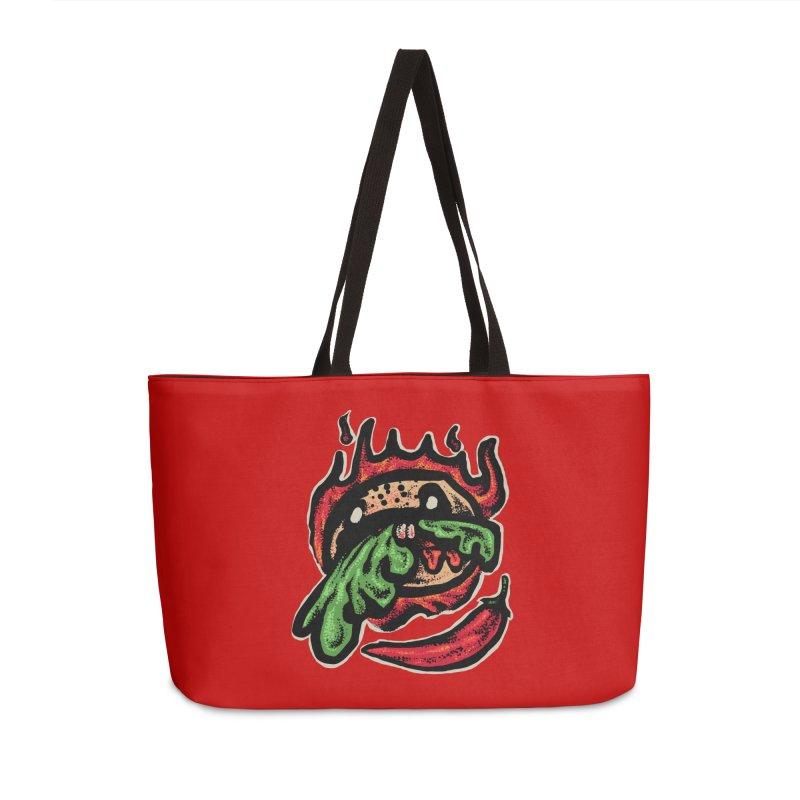Hot Spicy Burger Accessories Weekender Bag Bag by barmalisiRTB