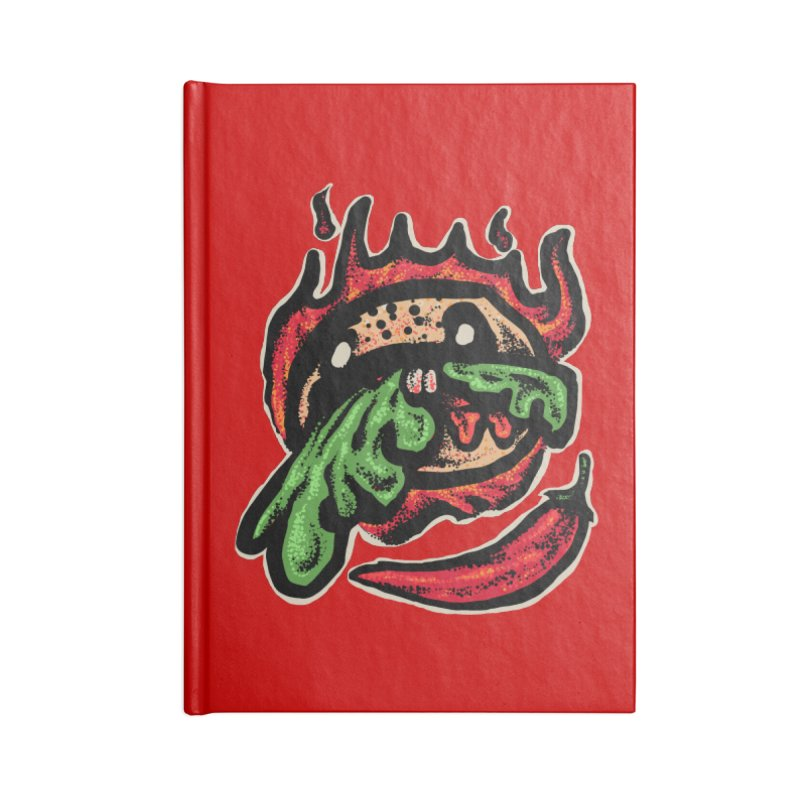 Hot Spicy Burger Accessories Lined Journal Notebook by barmalisiRTB