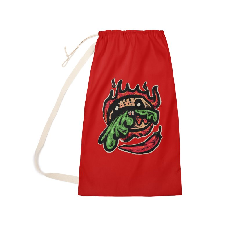 Hot Spicy Burger Accessories Laundry Bag Bag by barmalisiRTB