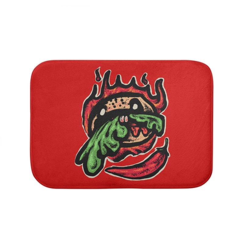 Hot Spicy Burger Home Bath Mat by barmalisiRTB
