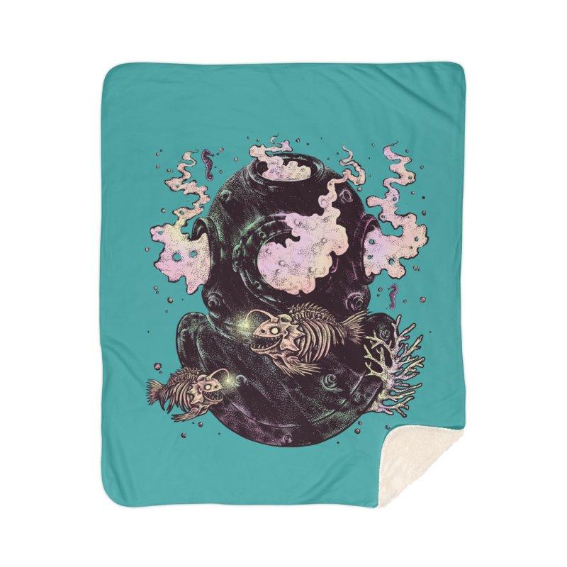 Dive or Die Home Sherpa Blanket Blanket by barmalisiRTB