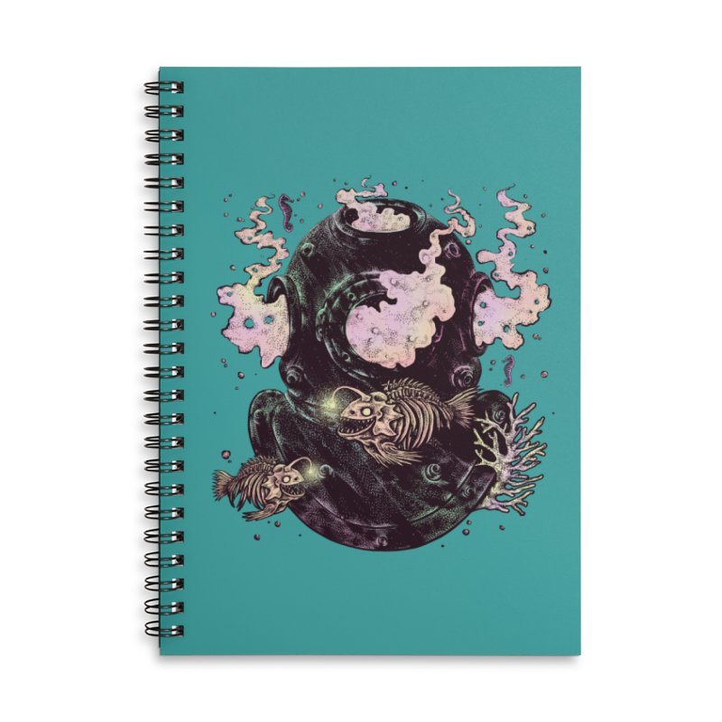 Dive or Die Accessories Lined Spiral Notebook by barmalisiRTB