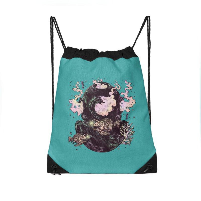 Dive or Die Accessories Drawstring Bag Bag by barmalisiRTB