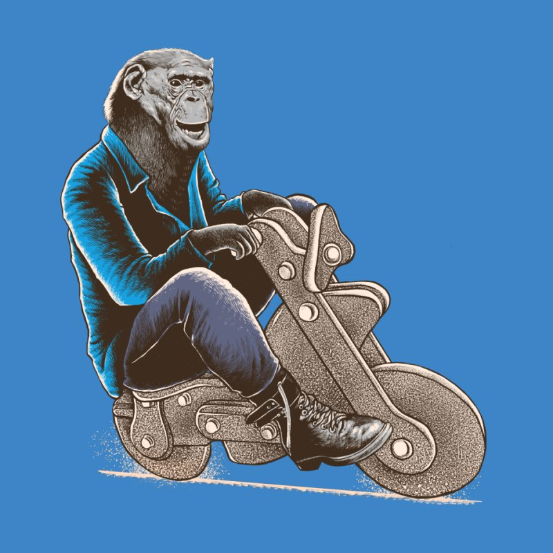 Happy Chimp Home Mounted Aluminum Print by barmalisiRTB