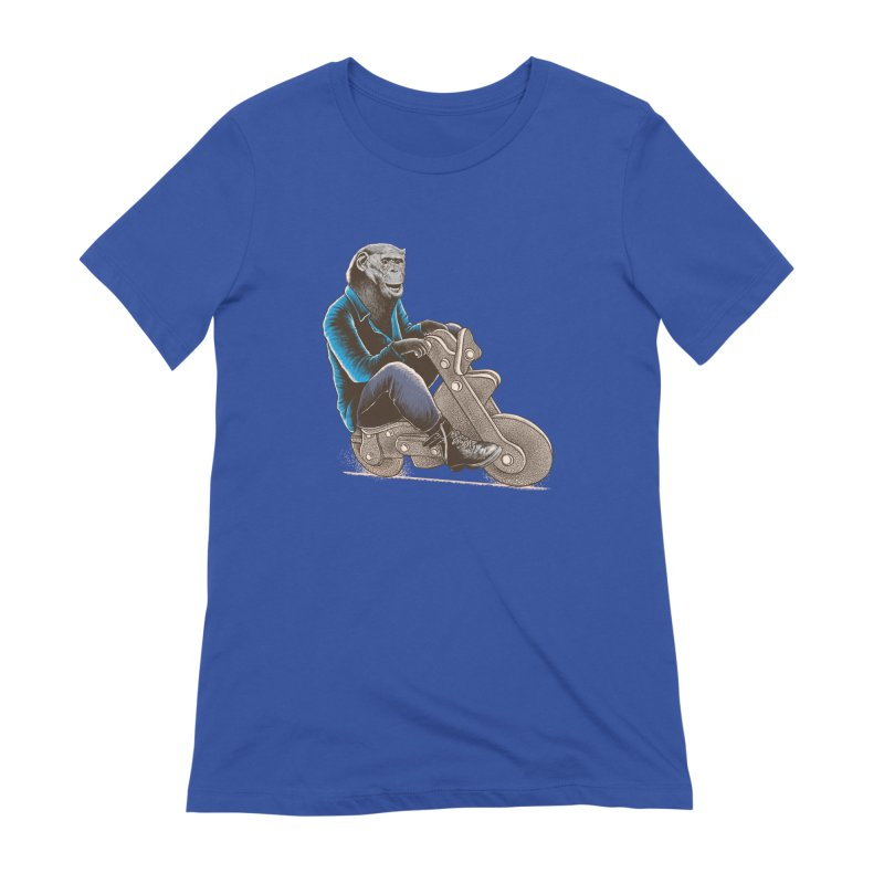 Happy Chimp Women's Extra Soft T-Shirt by barmalisiRTB