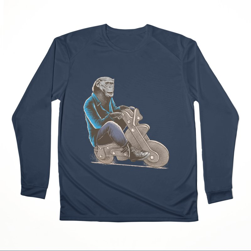 Happy Chimp Men's Performance Longsleeve T-Shirt by barmalisiRTB