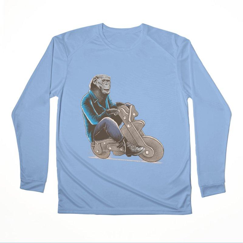 Happy Chimp Women's Performance Unisex Longsleeve T-Shirt by barmalisiRTB
