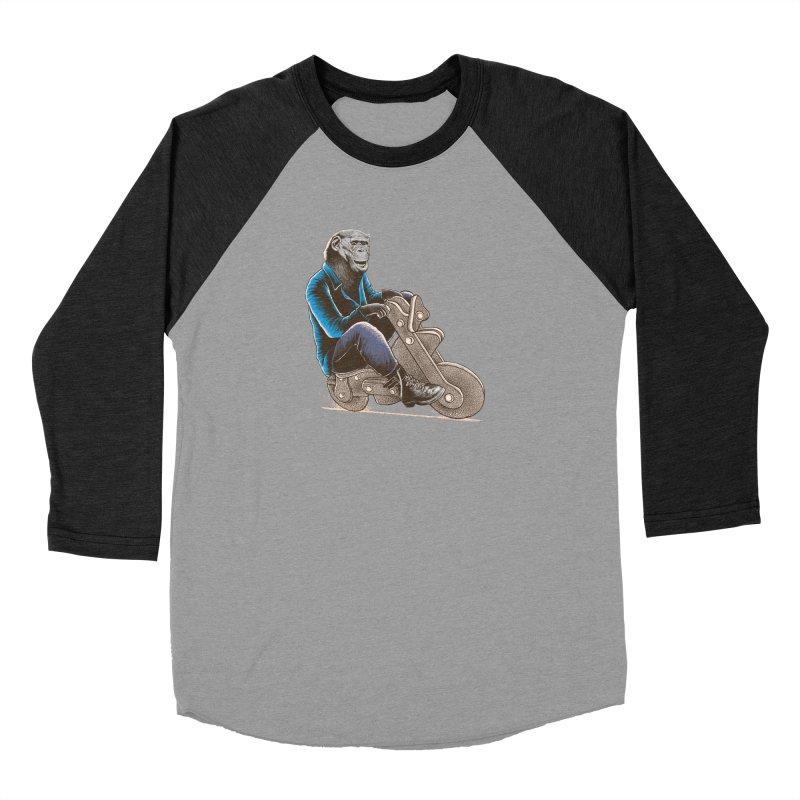 Happy Chimp Men's Baseball Triblend Longsleeve T-Shirt by barmalisiRTB
