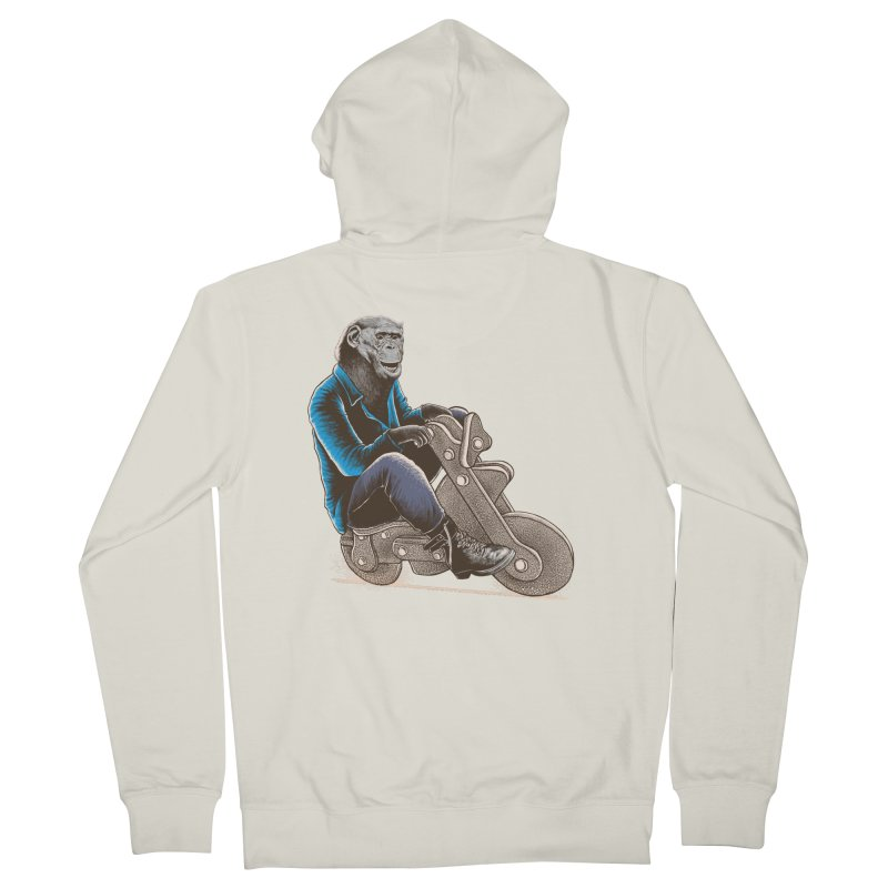 Happy Chimp Women's French Terry Zip-Up Hoody by barmalisiRTB