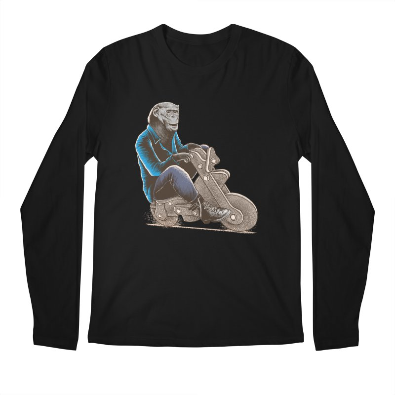Happy Chimp Men's Regular Longsleeve T-Shirt by barmalisiRTB