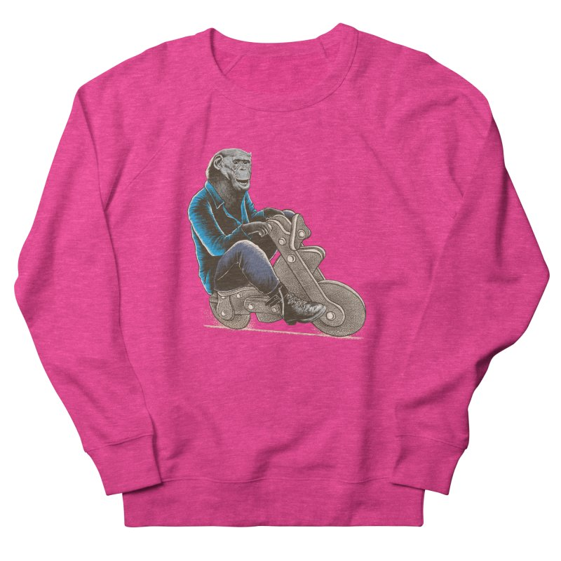 Happy Chimp Women's French Terry Sweatshirt by barmalisiRTB